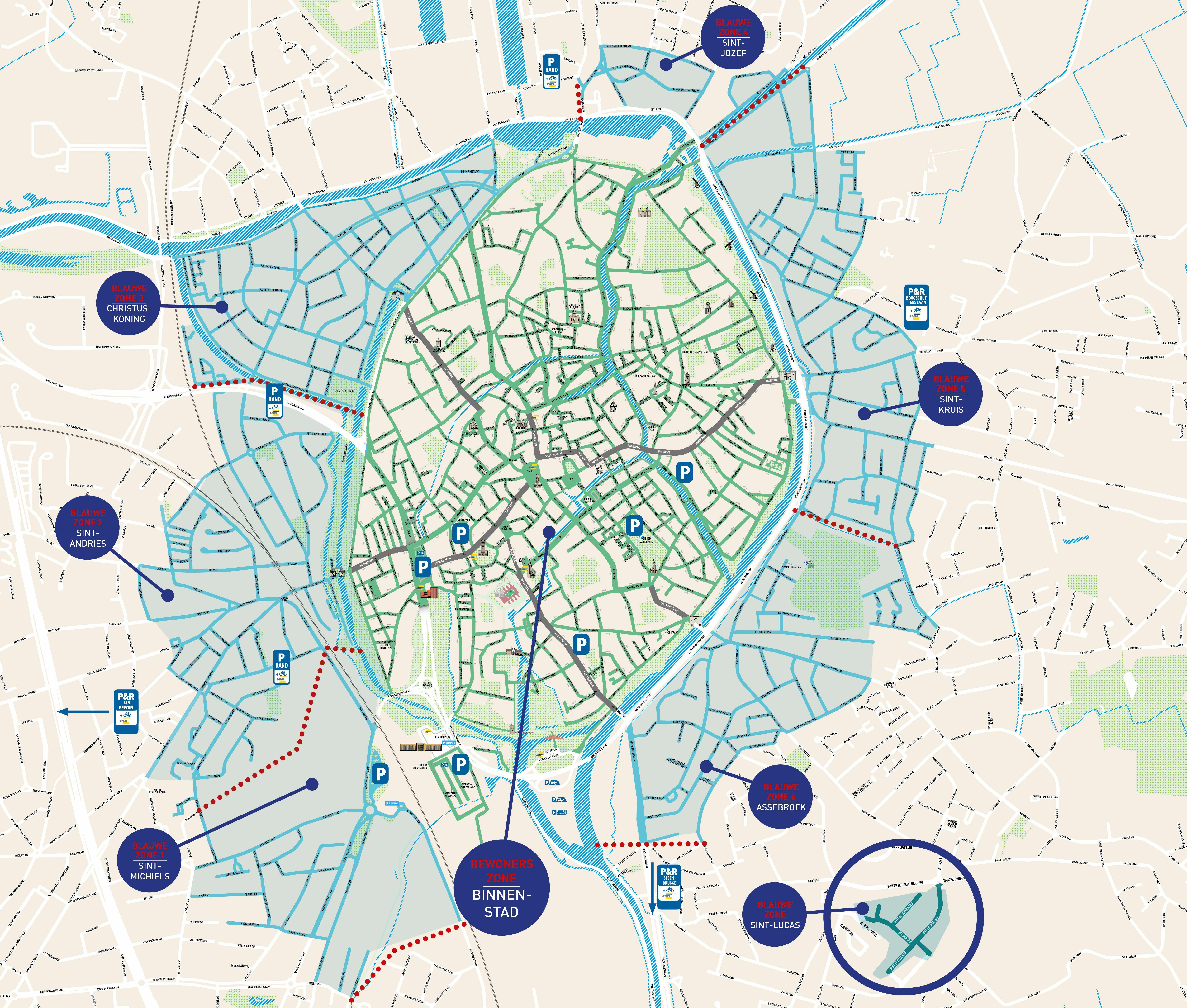 Bruges France Map.Parkeren In Brugge Stad Brugge
