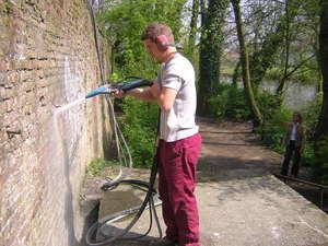 verwijderen van graffiti