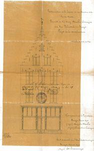 voorgevel plan 1892 nieuwe toestand