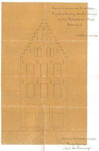 gevelplan 1892 bestaande toestand