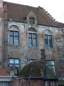 Vlamingstraat 98 achtergevel voor renovatie (bestaande toestand), uitgevend op Augustijnenrei