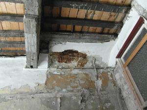 Vlamingstraat 98 interieur - bewaarde balklagen voor restauratie (bestaande toestand)